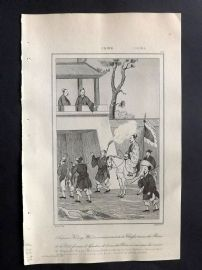 L'Univers C1850 Antique Print. Emperor Kouang Wou-Ti, China 53
